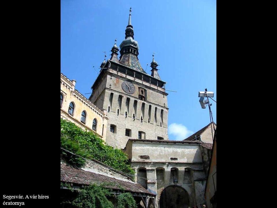 Segesvár. A vár híres óratornya