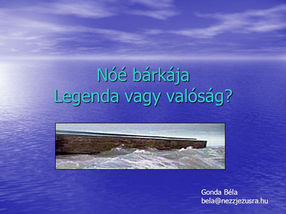 Nóé bárkája Legenda vagy valóság