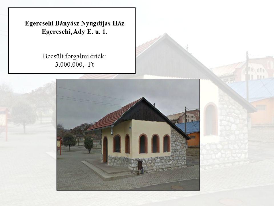 Egercsehi Bányász Nyugdíjas Ház