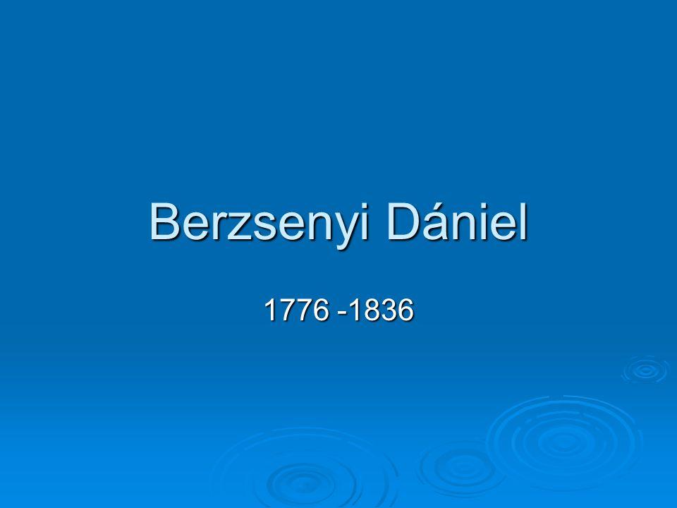 Berzsenyi Dániel 1776 -1836