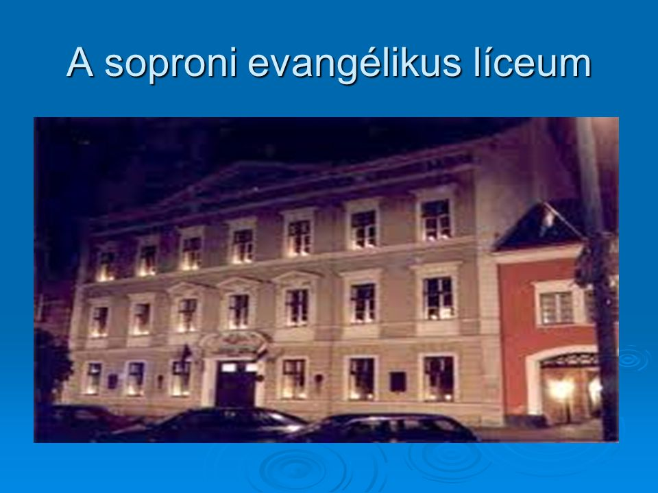 A soproni evangélikus líceum
