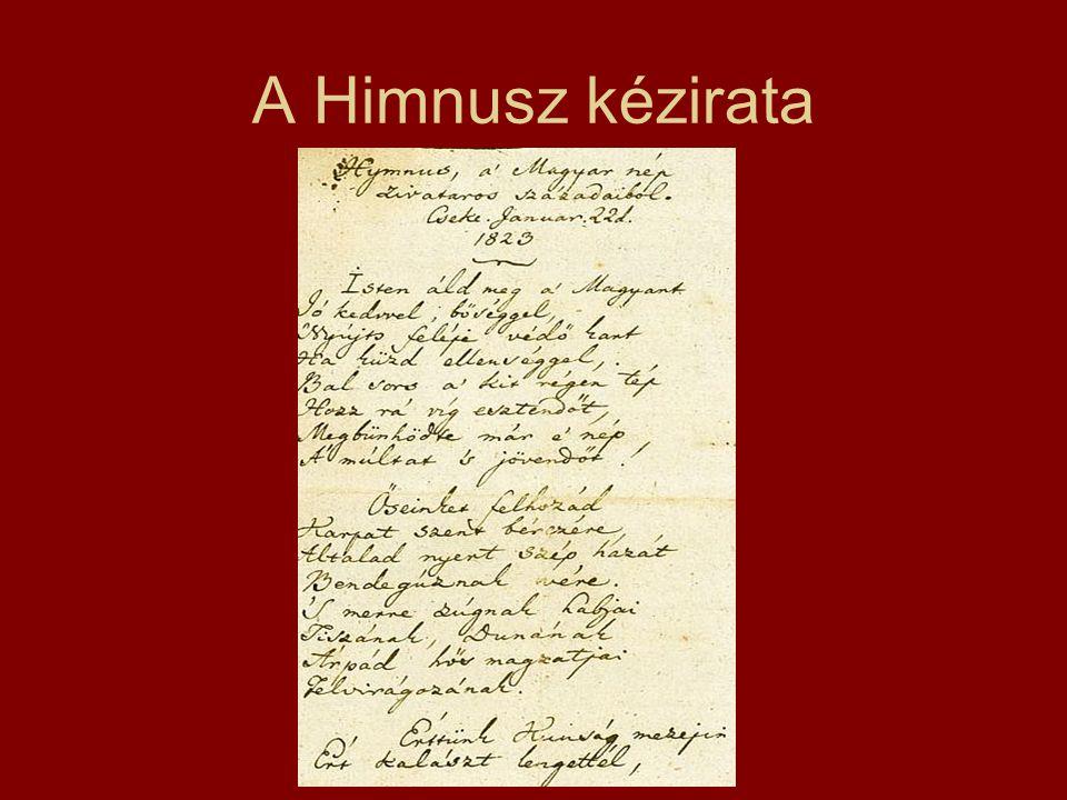 A Himnusz kézirata