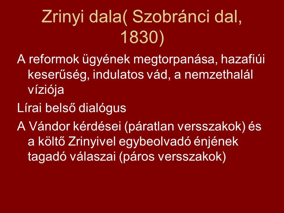 Zrinyi dala( Szobránci dal, 1830)