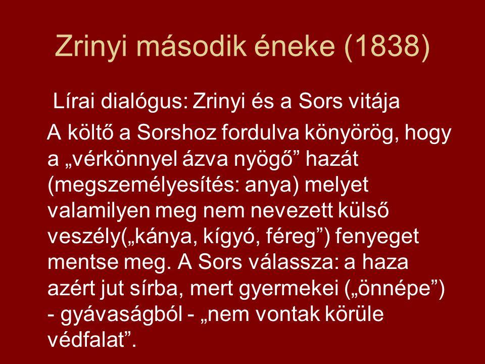 Zrinyi második éneke (1838)