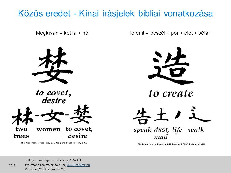 Közös eredet - Kínai írásjelek bibliai vonatkozása