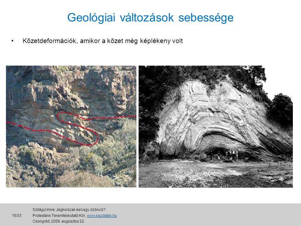Geológiai változások sebessége