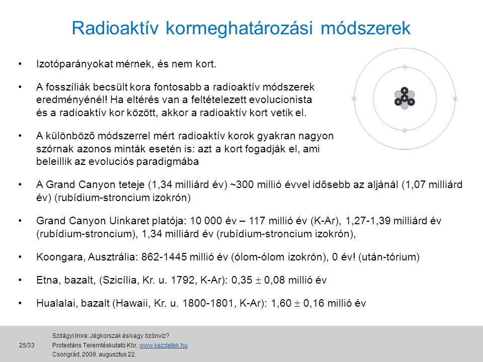 Radioaktív kormeghatározási módszerek