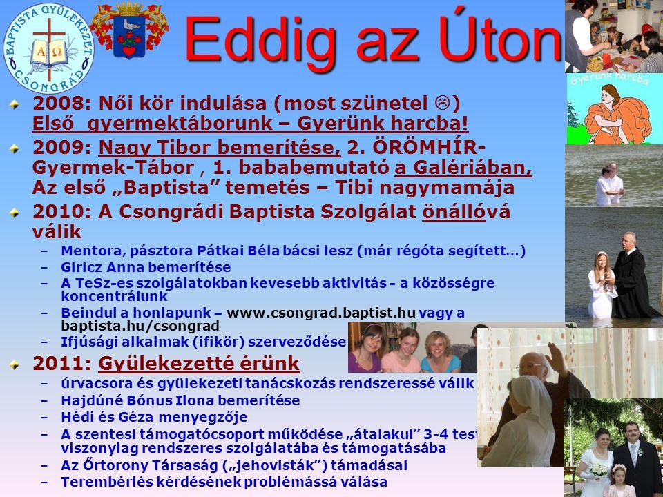Eddig az Úton… 2008: Női kör indulása (most szünetel ) Első gyermektáborunk – Gyerünk harcba!