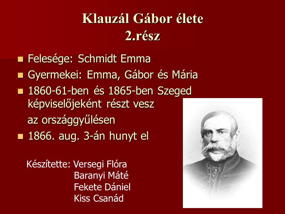 Klauzál Gábor élete 2.rész