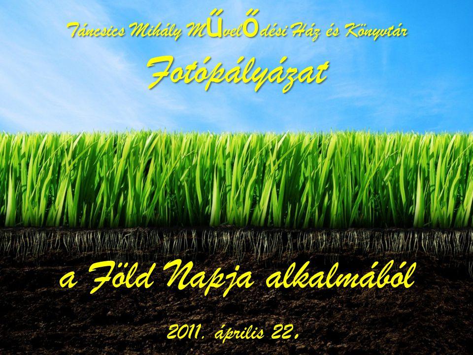 Táncsics Mihály Művelődési Ház és Könyvtár Fotópályázat a Föld Napja alkalmából 2011. április 22.