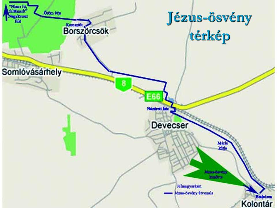 Jézus-ösvény térkép