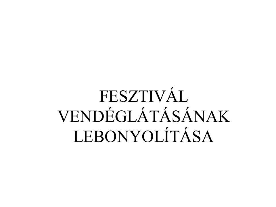 FESZTIVÁL VENDÉGLÁTÁSÁNAK LEBONYOLÍTÁSA