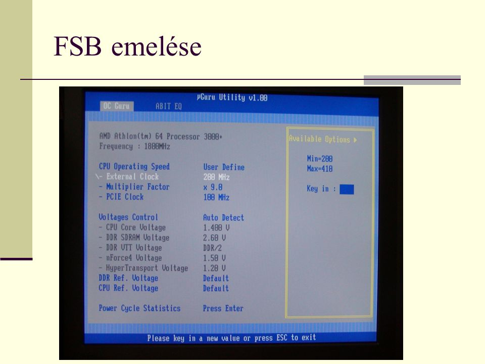 FSB emelése