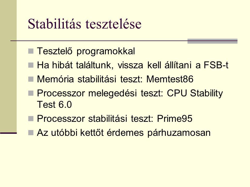Stabilitás tesztelése