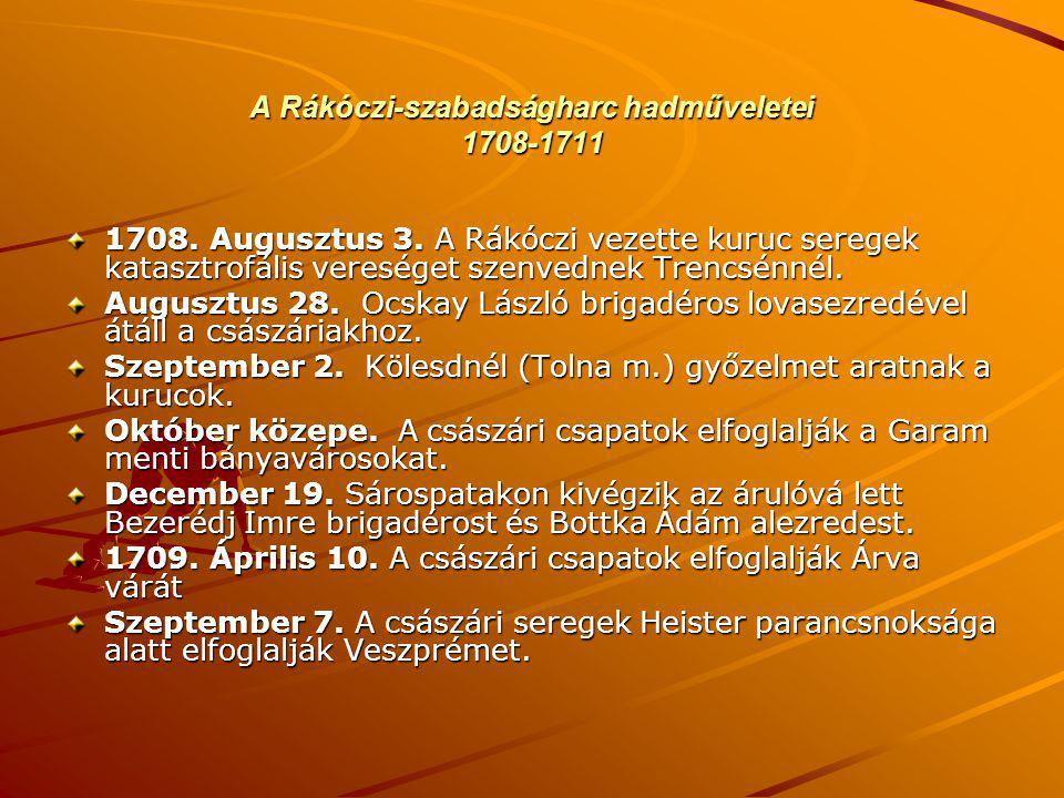 A Rákóczi-szabadságharc hadműveletei 1708-1711