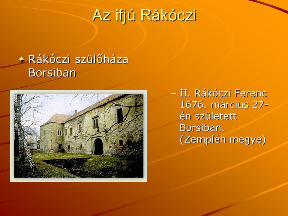 Az ifjú Rákóczi Rákóczi szülőháza Borsiban
