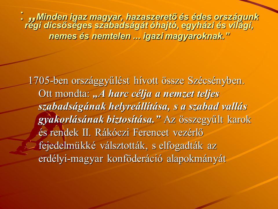 """: """"Minden igaz magyar, hazaszerető és édes országunk régi dicsőséges szabadságát óhajtó, egyházi és világi, nemes és nemtelen ... igazi magyaroknak."""