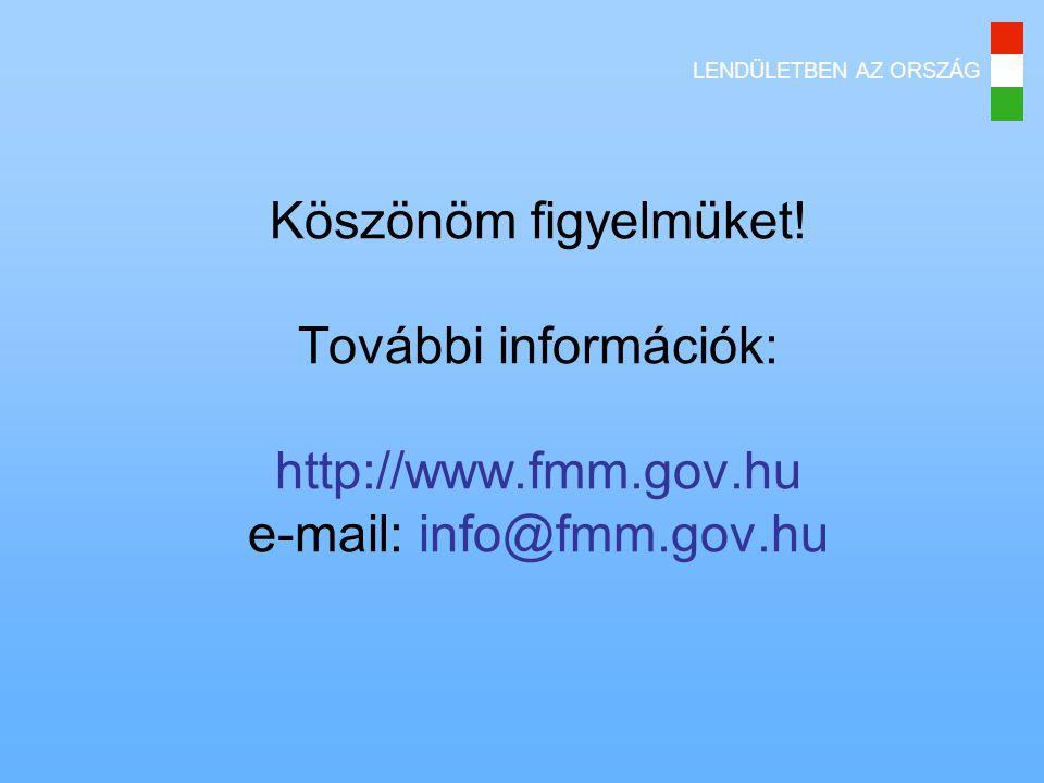 Köszönöm figyelmüket. További információk: http://www. fmm. gov