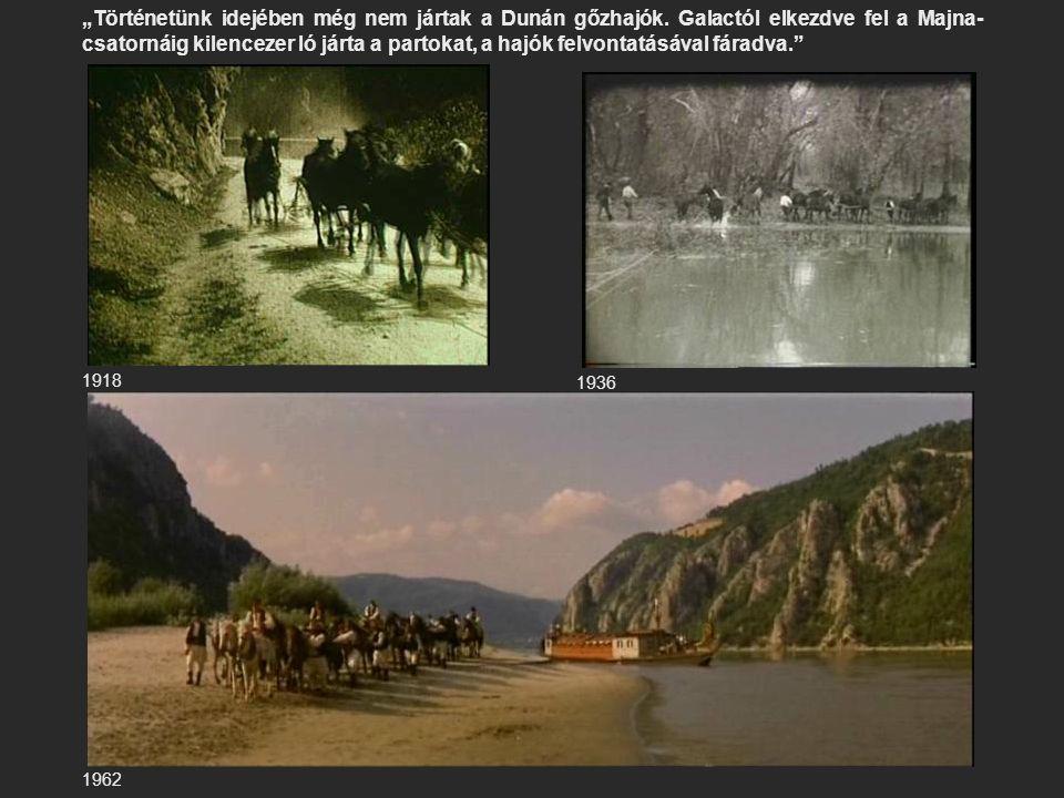 """""""Történetünk idejében még nem jártak a Dunán gőzhajók"""