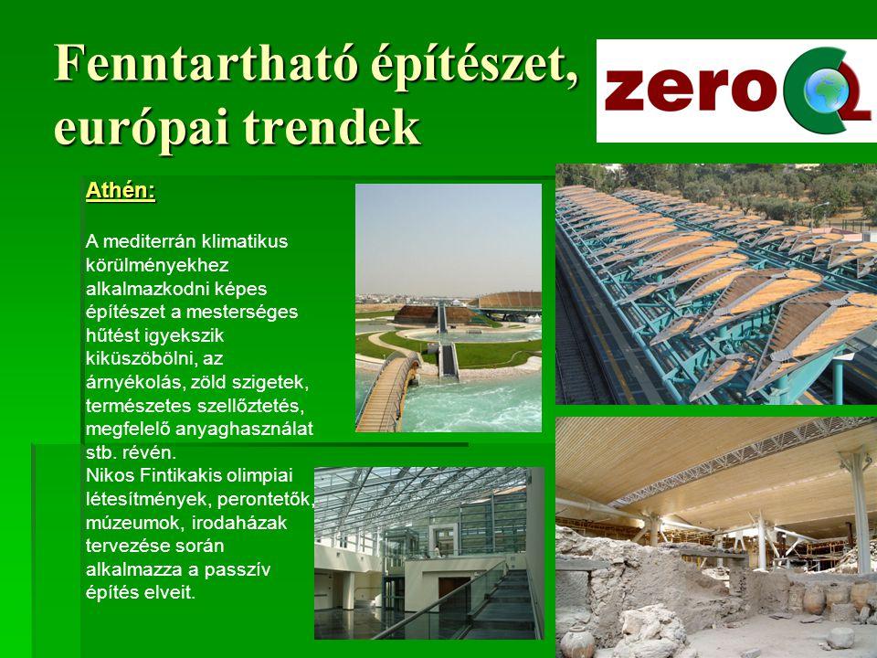 Fenntartható építészet, európai trendek