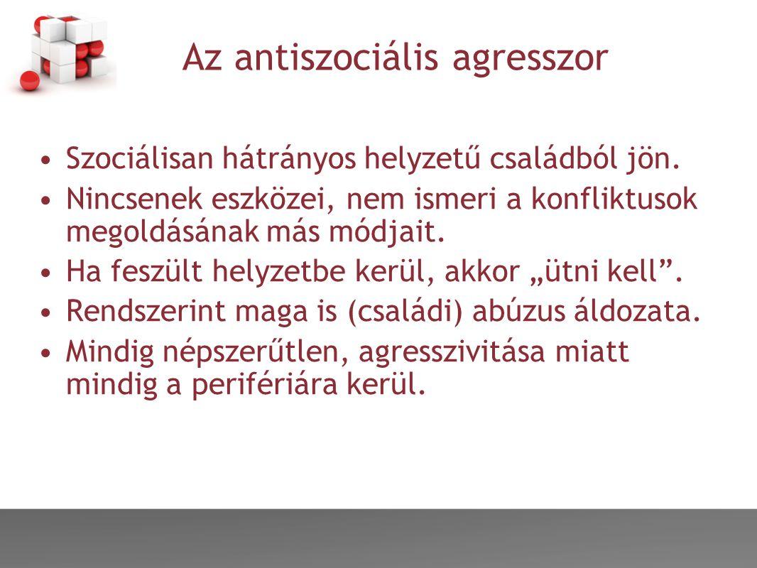 Az antiszociális agresszor