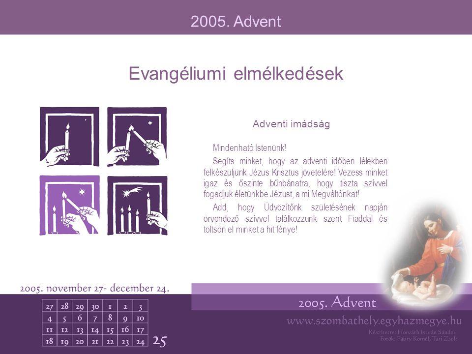 Evangéliumi elmélkedések