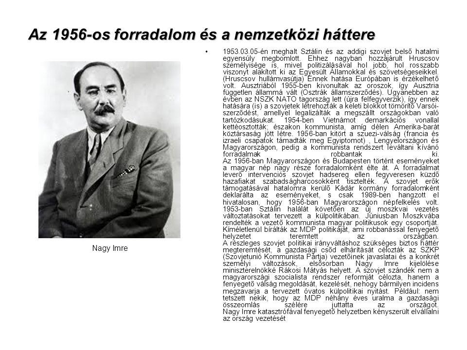 Az 1956-os forradalom és a nemzetközi háttere