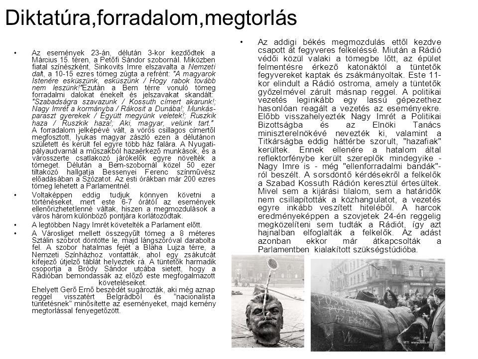 Diktatúra,forradalom,megtorlás