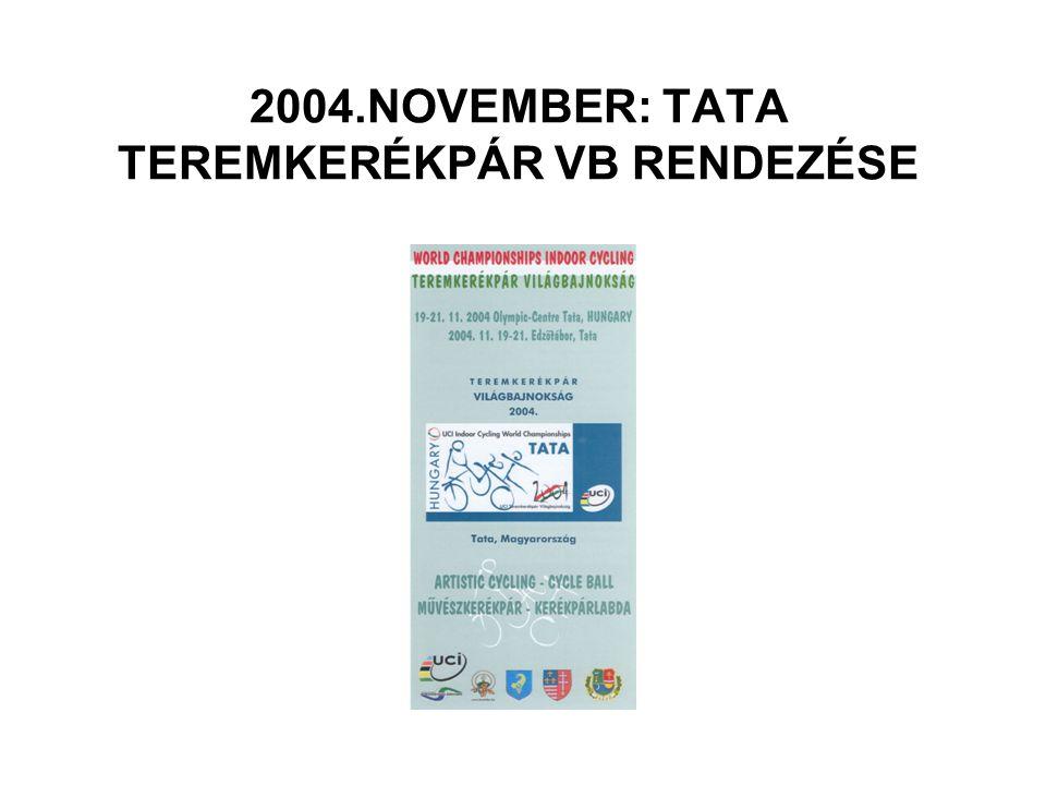 2004.NOVEMBER: TATA TEREMKERÉKPÁR VB RENDEZÉSE