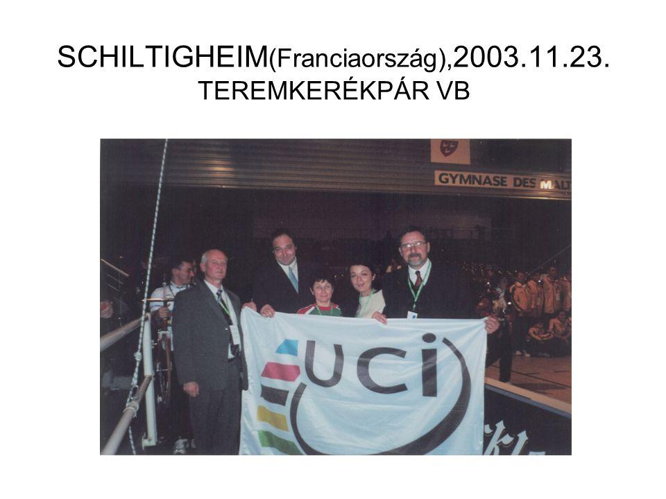 SCHILTIGHEIM(Franciaország),2003.11.23. TEREMKERÉKPÁR VB
