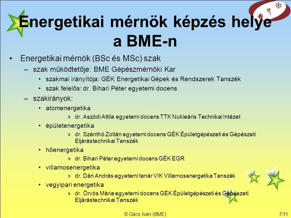 Energetikai mérnök képzés helye a BME-n