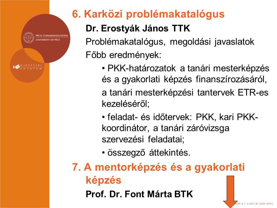 6. Karközi problémakatalógus