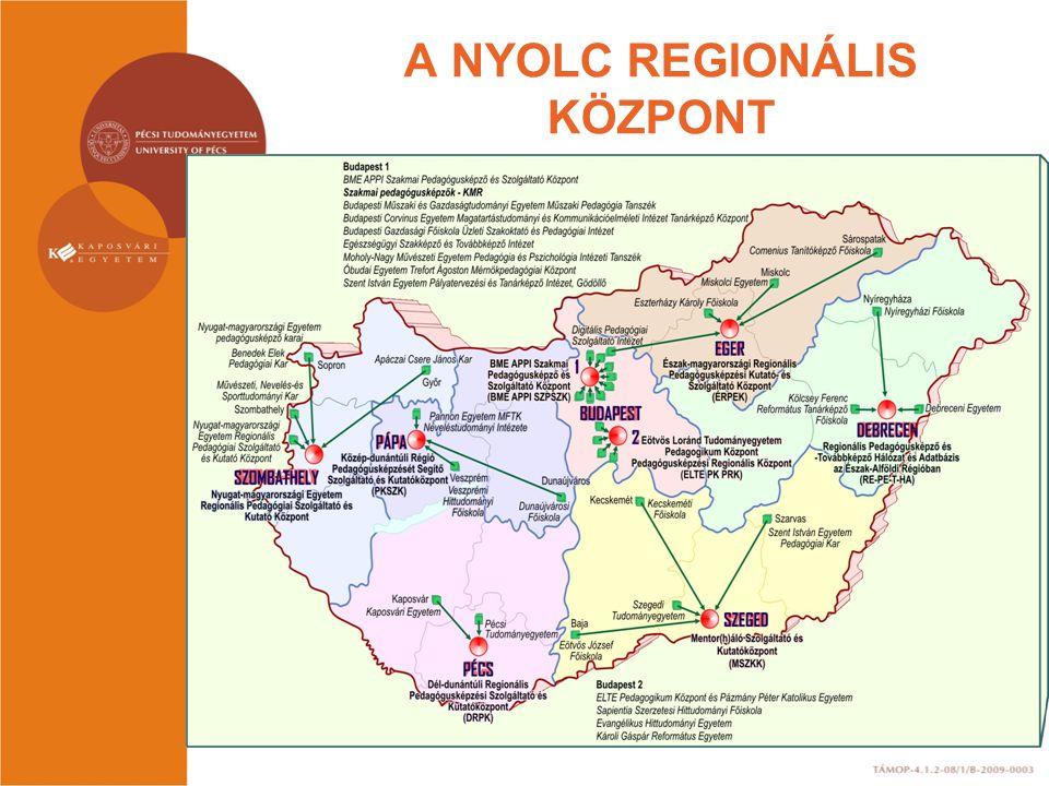 A NYOLC REGIONÁLIS KÖZPONT
