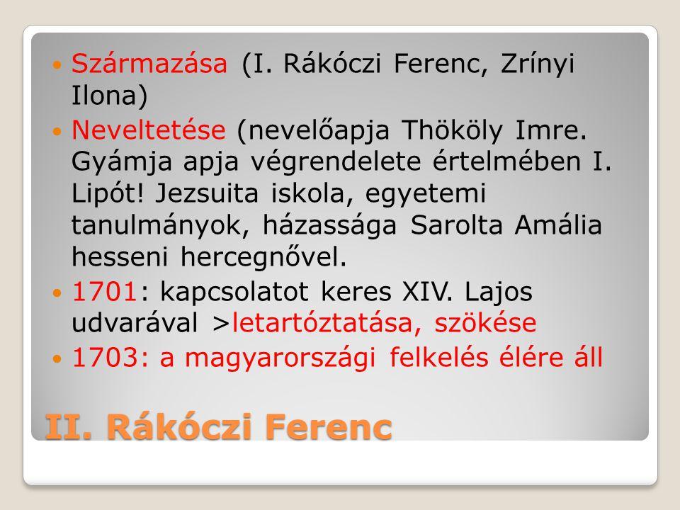 II. Rákóczi Ferenc Származása (I. Rákóczi Ferenc, Zrínyi Ilona)