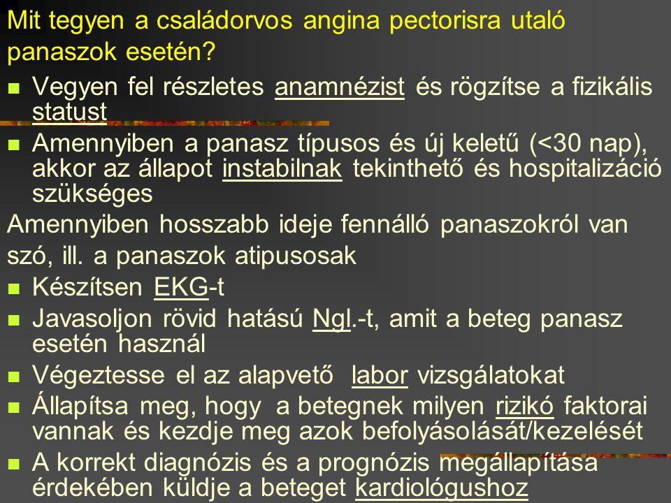 Mit tegyen a családorvos angina pectorisra utaló panaszok esetén