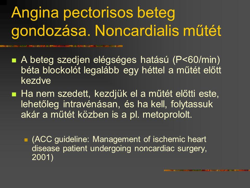 Angina pectorisos beteg gondozása. Noncardialis műtét