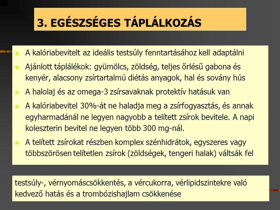 3. EGÉSZSÉGES TÁPLÁLKOZÁS
