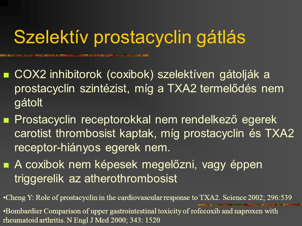 Szelektív prostacyclin gátlás
