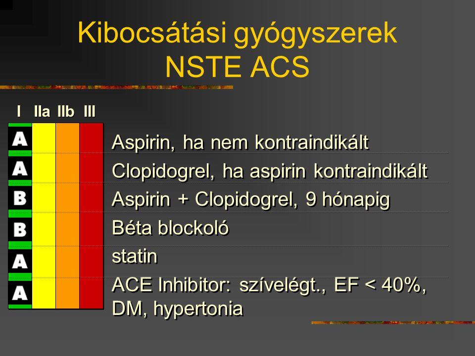 Kibocsátási gyógyszerek NSTE ACS