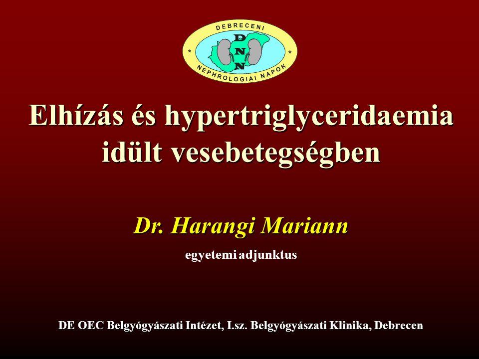 Elhízás és hypertriglyceridaemia idült vesebetegségben