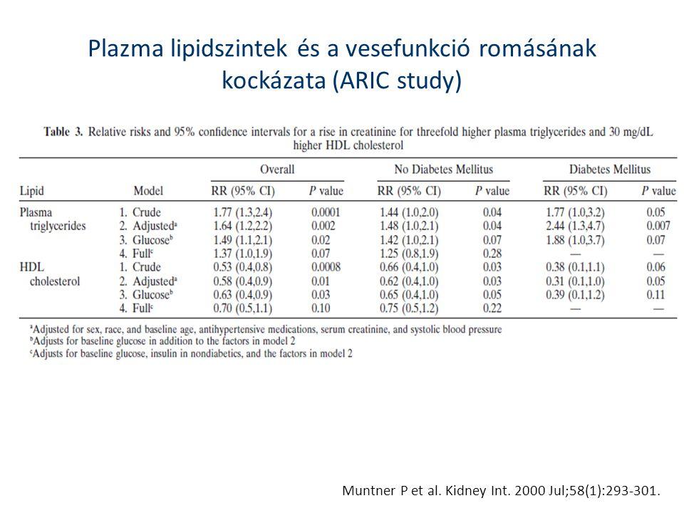 Plazma lipidszintek és a vesefunkció romásának kockázata (ARIC study)