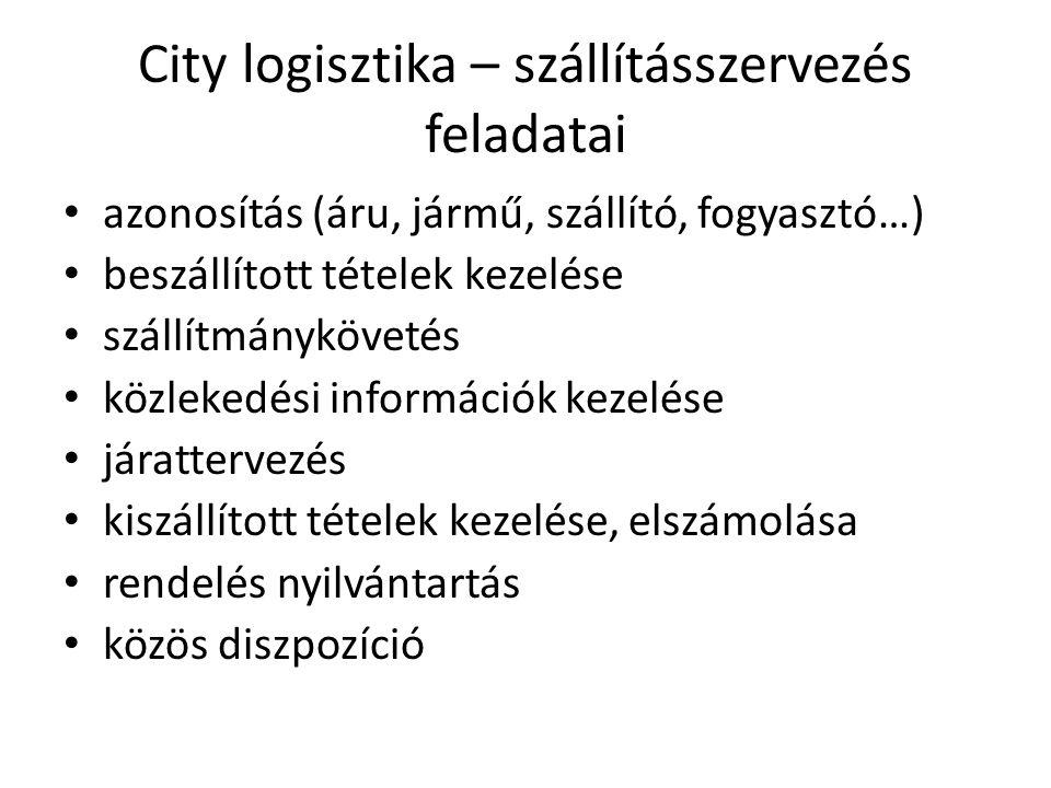 City logisztika – szállításszervezés feladatai