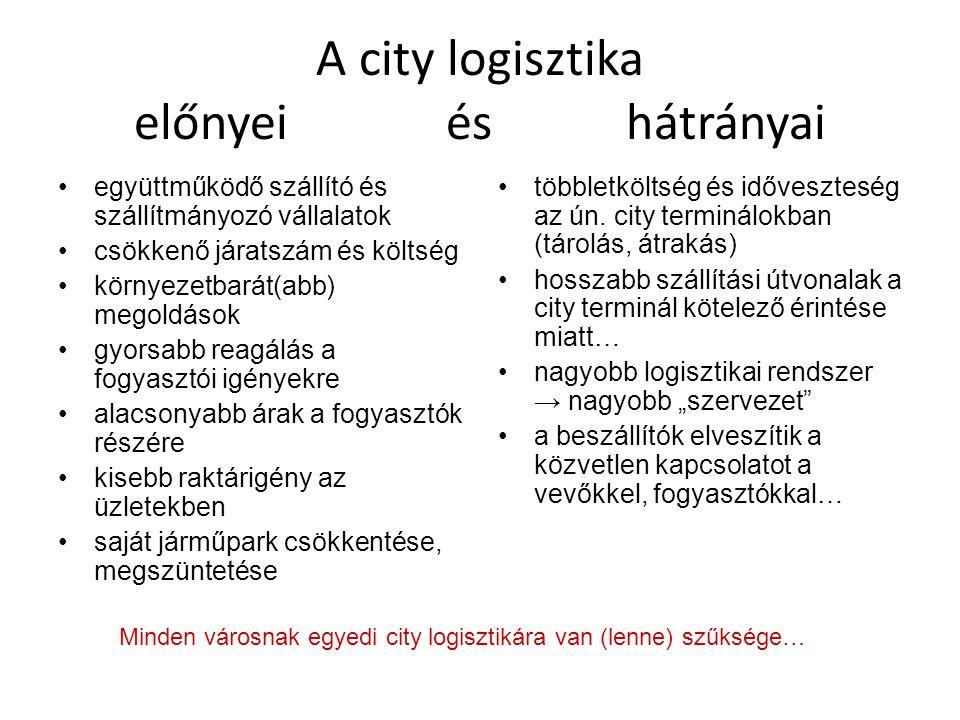 A city logisztika előnyei és hátrányai