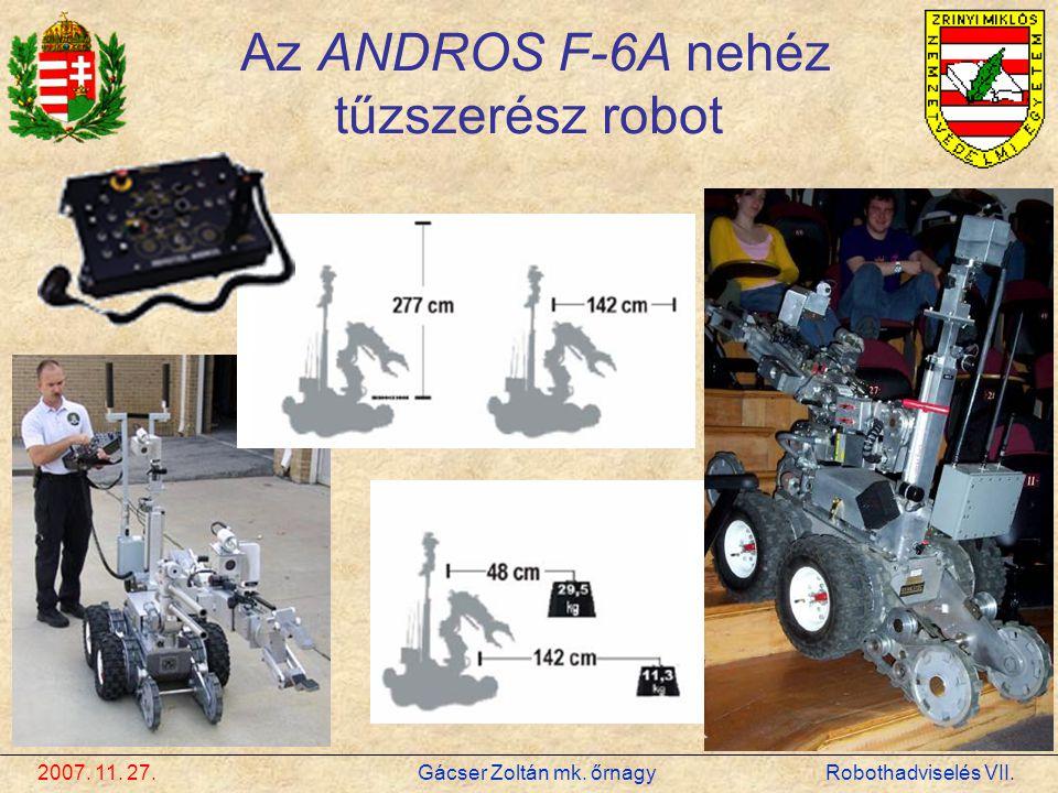 Az ANDROS F-6A nehéz tűzszerész robot