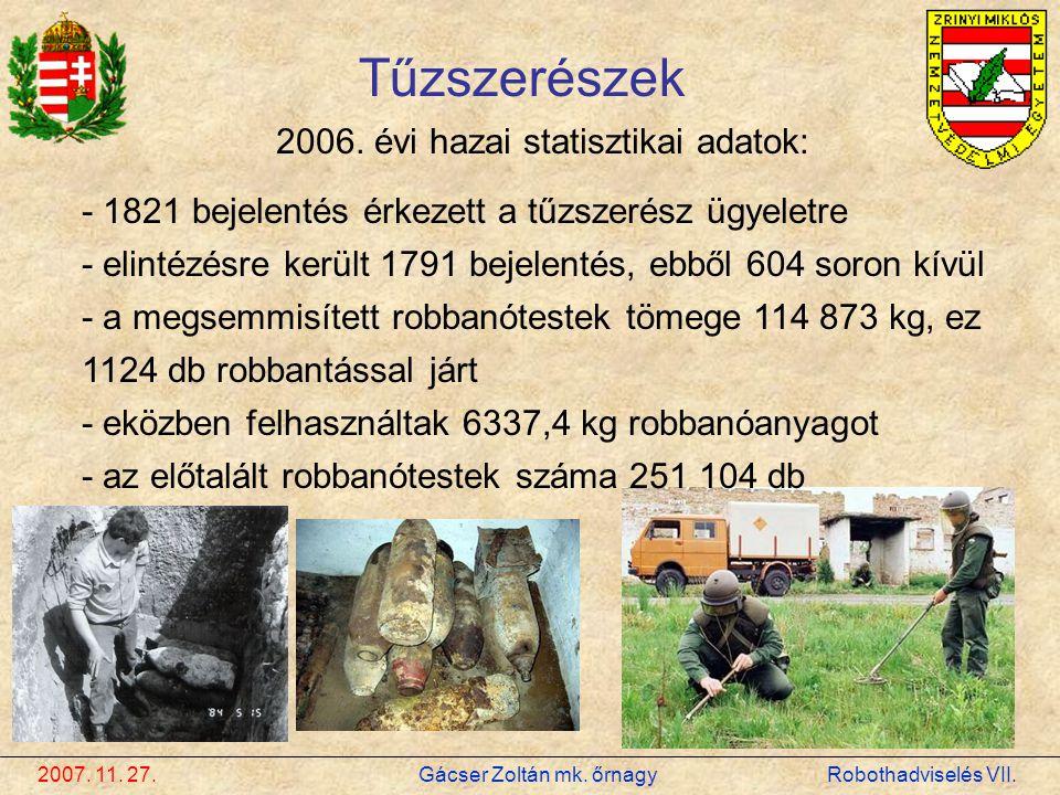2006. évi hazai statisztikai adatok: