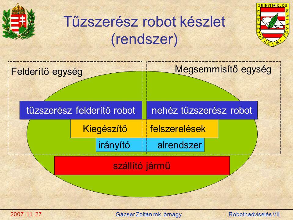 Tűzszerész robot készlet (rendszer)