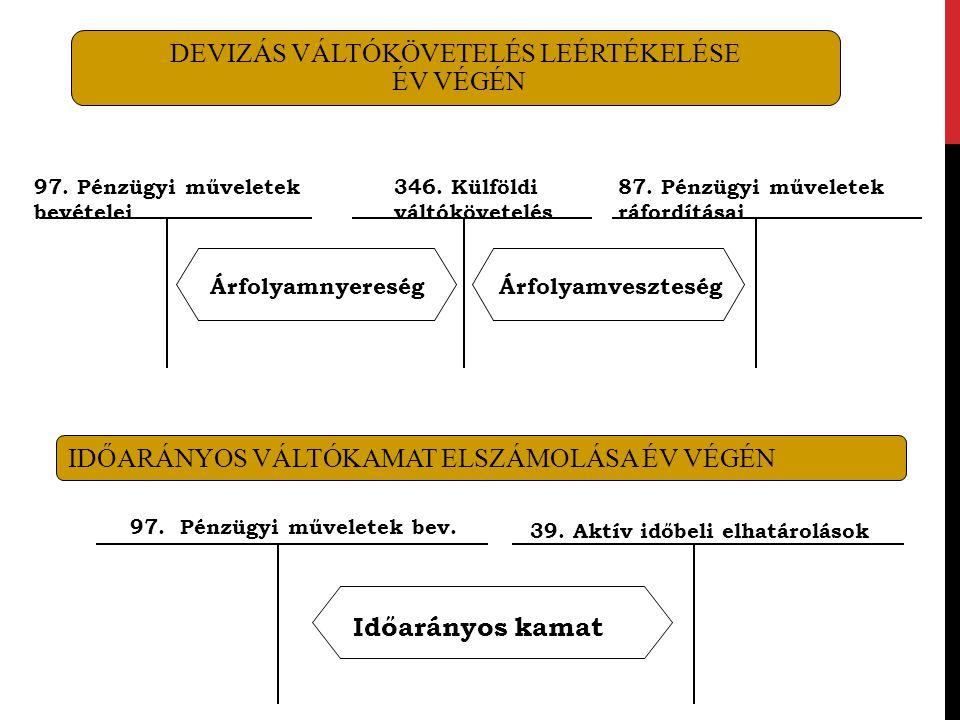 DEVIZÁS VÁLTÓKÖVETELÉS LEÉRTÉKELÉSE