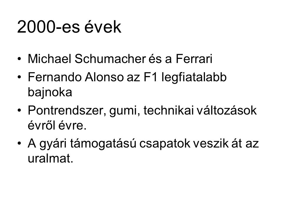 2000-es évek Michael Schumacher és a Ferrari