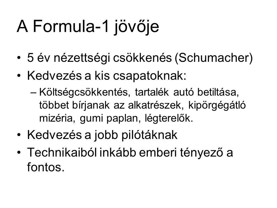 A Formula-1 jövője 5 év nézettségi csökkenés (Schumacher)