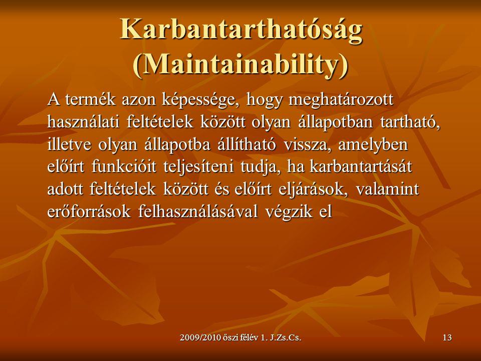 Karbantarthatóság (Maintainability)